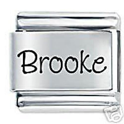 Brooke Nombre-Margarita Charms se adapta tamaño clásico italiano pulsera con dijes Nomination