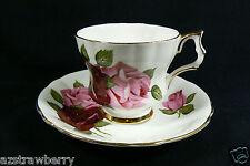 Windsor fine Bone China made in England Pink Roses Tea Cup & Saucer set