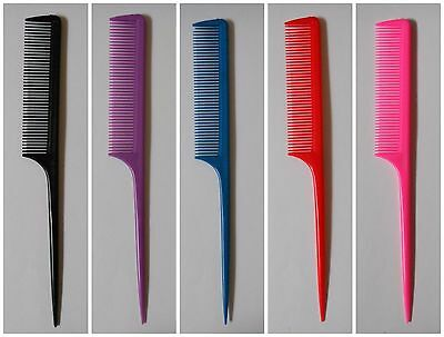 New 3-6-9Pcs Sectioning Rat Tail Comb Parting Hair Styling Men Women Styling Mix