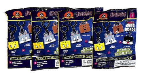 Scooby-Doo kawaii Cubes Tête Sac à dos clip-ons 4 Blind Bags Series 1