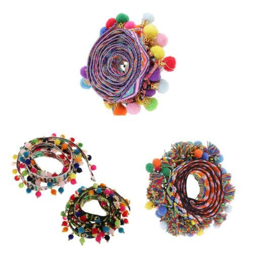 4 Fringe Lace Edge Trim Tassel Ribbon Hat//Bag//Clothes Applique Sewing Crafts