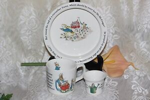 Image Is Loading Wedgwood Beatrix Potter Peter Rabbit 3 Piece Nursery