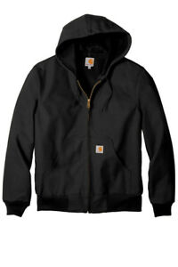 Men-039-s-Carhartt-Thermal-Lined-Duck-Active-Jacket-Coat-Winter-FREE-SHIP-J131