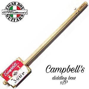 Cigar Box Guitar Campbell's Diddley bow one string. Robert Matteacci