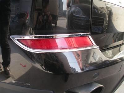 Chrome Rear Bumper Fog Light Lamp Cover Trim Fit For BMW X5 E70 2011 2012 2013
