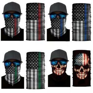 Blue and Red Face Cover Blue and Red Bandana Blue and Red Neck Gaiter