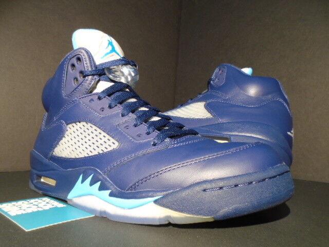 Nike Air Jordan V 5 Retro HORNETS PRE-GRAPE NAVY BLUE TURQUOISE WHITE BLACK 9.5