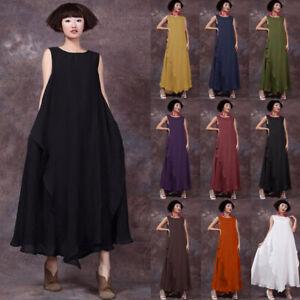 ZANZEA-8-24-Women-Summer-Sleeveless-Maxi-Sundress-Kaftan-Flare-Swing-Long-Dress