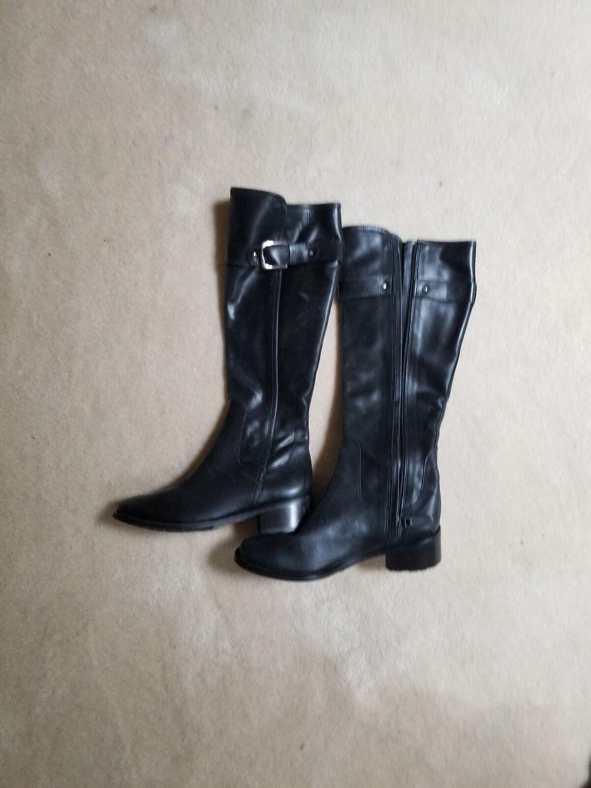 NEW  cole haan schwarz Leder boots Größe 6
