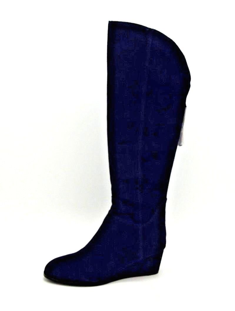 A5066 New Women's Steven by Steve Madden Larken Suede Navy Boot 6.5 M