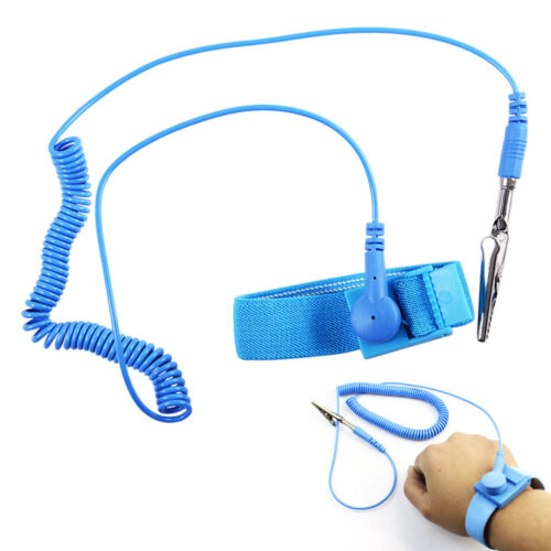 Anti-static ESD Wristband Wrist Strap with Grounding Coil Cord Prevents Static