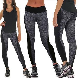 0f89625b44c48 Femme Taille Haute Yoga Fitness Legging Jogging Gym Élastique Sport ...