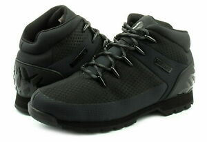 Timberland-A1QHR-Euro-Sprint-Mens-Canvas-Hikers-Hiking-Boots-Shoes-Black-Size