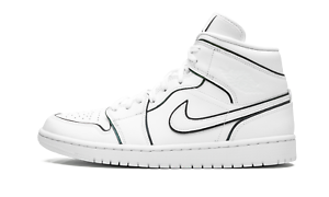 Nike Air Jordan 1 Mid SE – Iridescent Reflective WhiteWhite Sneaker Unboxing