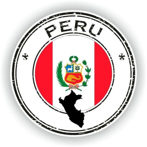 Joint Autocollant du Pérou TIMBRE pare-chocs Cocarde ordinateur portable voiture Camion Livre Réfrigérateur #02