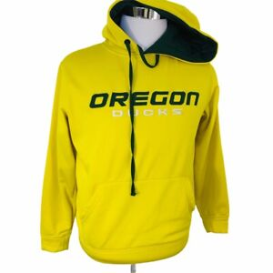 Oregon-Ducks-Mens-Classic-Logo-Pullover-Hoodie-Yellow-Mens-Size-S-NCAA-Embroider