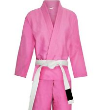 NEW BLACK TIGER FIGHT GEAR BJJ  KIMONOS SUITS WITH FREE BELT  (PINK) A3