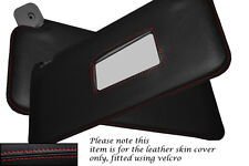 RED STITCHING FITS FIAT PUNTO MK1 93-99 2X SUN VISORS LEATHER COVERS ONLY
