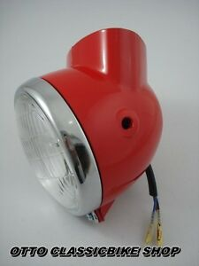 Honda-DAX-50-70-ST50-ST70-CT70-CHALY-CF50-CF70-Headlight-Light-Case-Red