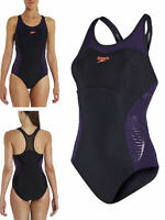 Speedo Fit Racerback Non Wired Swimming Costume Control Smooth Swimsuit