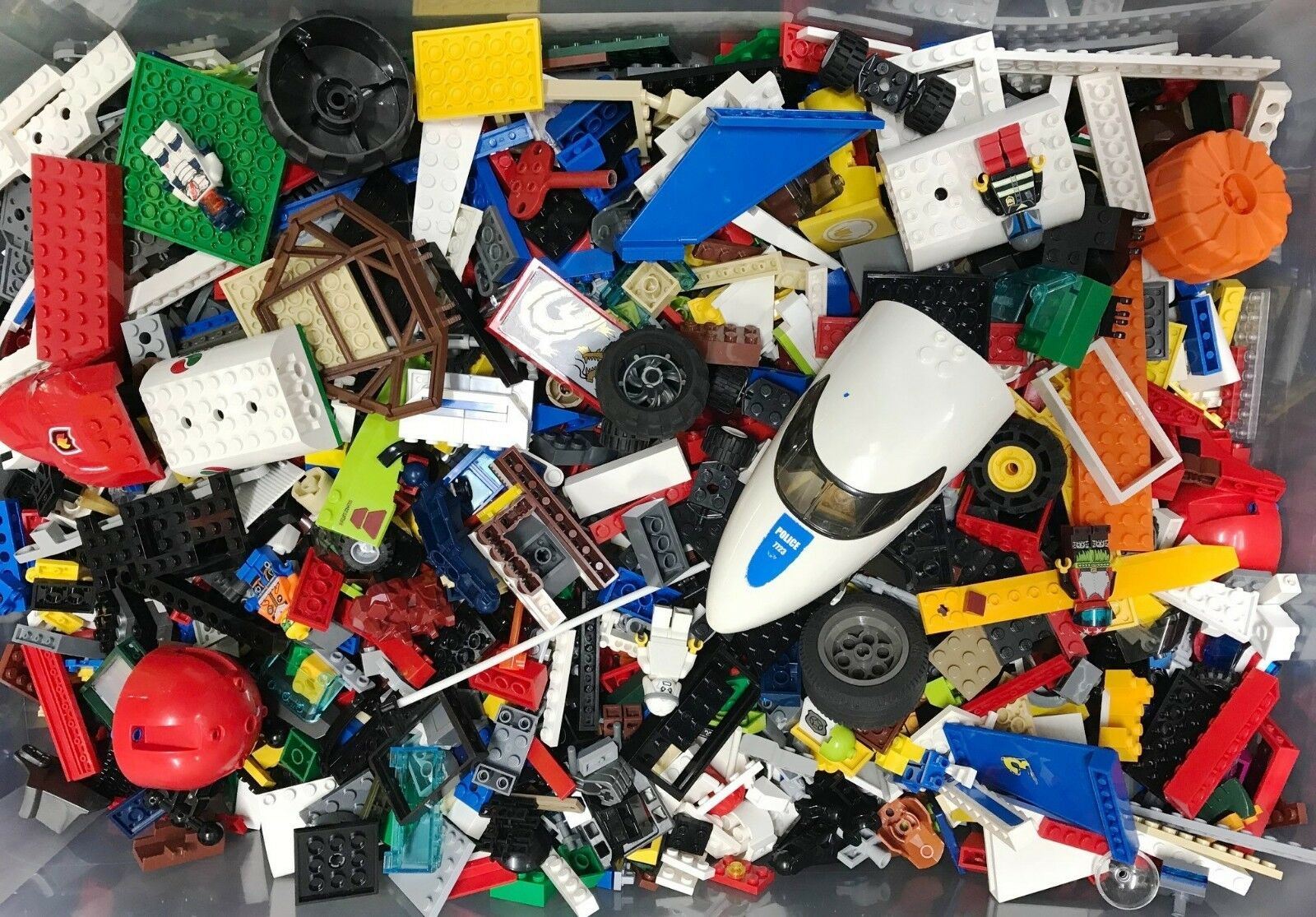 10kg MIXED LEGO +20 FREE MINIFIGURES   Genuine Official used Lego Bricks & Parts
