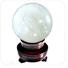 Natural Crystal Ball 110mm 4.2 inch with Free Wooden Stand and Gift Box