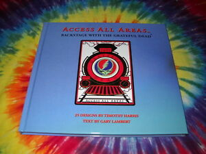 ACCESS-ALL-AREAS-BACKSTAGE-PASS-LAMINATE-WITH-THE-GRATEFUL-DEAD-CONCERT-BOOK-NEW