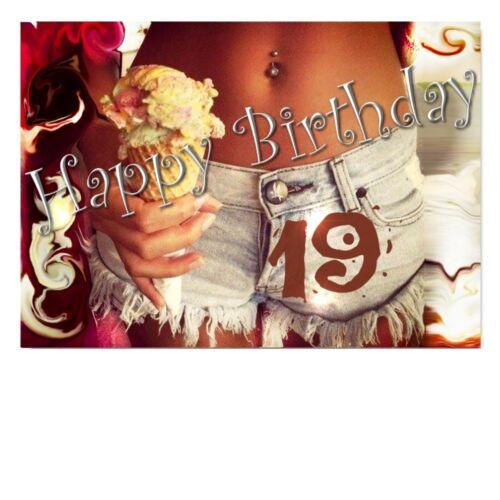 DigitalOase 19 Geburtstag Grußkarte XXL Glückwunschkarte Geburtstagskarten #029