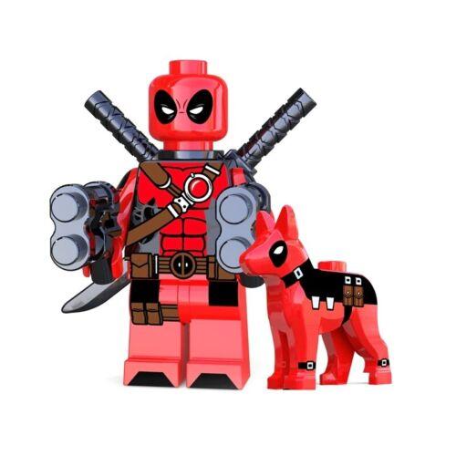 DEADPOOL minifigura Lego compatibile con dogpool WILSON-MARVEL COMICS