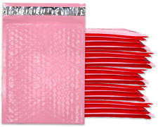 Pastel Pink 30 Pack 4x8 6x10 8x12 10x15 Inch Bubble Mailers Light Pink Ship