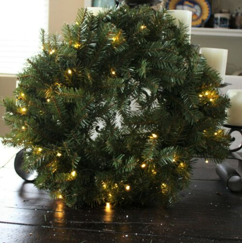 "National Tree Company CHRISTMAS WREATH Prelit Pine 20/""  NWT"
