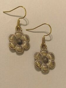 Brighton-PETAL-PUSHER-Gold-SMALL-Flowers-Garden-Crystal-Sparkle-Custom-Earrings
