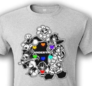 Details about Undertale Love 7 souls Frisk Flowey Toriel Sans Papyrus  Mettaton Asgore T-Shirt