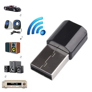 1PC Home Car USB Wireless Bluetooth 3.5mm AUX Audio Stereo Receiver Adapter