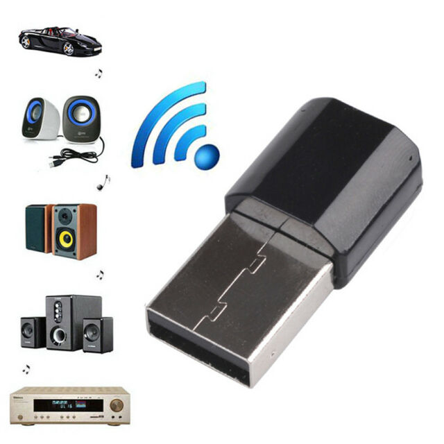 USB Wireless Bluetooth 3.5mm AUX Audio Stereo Music Home Car Receiver Adapter