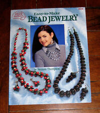 BOOK: Easy To Make Bead Jewelry /8 Projects 1994 Elegant Necklaces Earrings 8838
