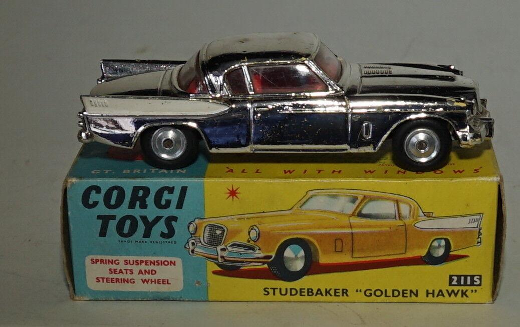 Corgi 211s - Studebaker oren Hawk en Excellent État