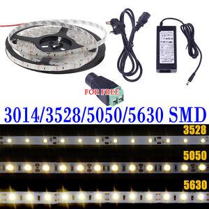 5M-SMD-RGB-3014-5050-3528-5630-300-600LEDs-Cool-Warm-White-Flexible-Strip-Light