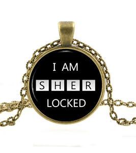 Necklace Jewellery Sherlock Holmes Locket /& Gift bag