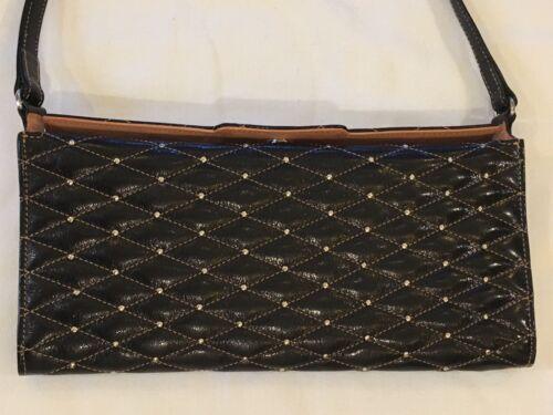 colmillo negro Bolsa pulgadas cuero Beverly 5x10 y metal bolso Hills Dama de de w11vXFTq