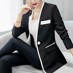 Jacket-Suit-Top-Ladies-Jacket-Long-Sleeve-Coat-Casual-Outwear-Slim-Blazer-Women