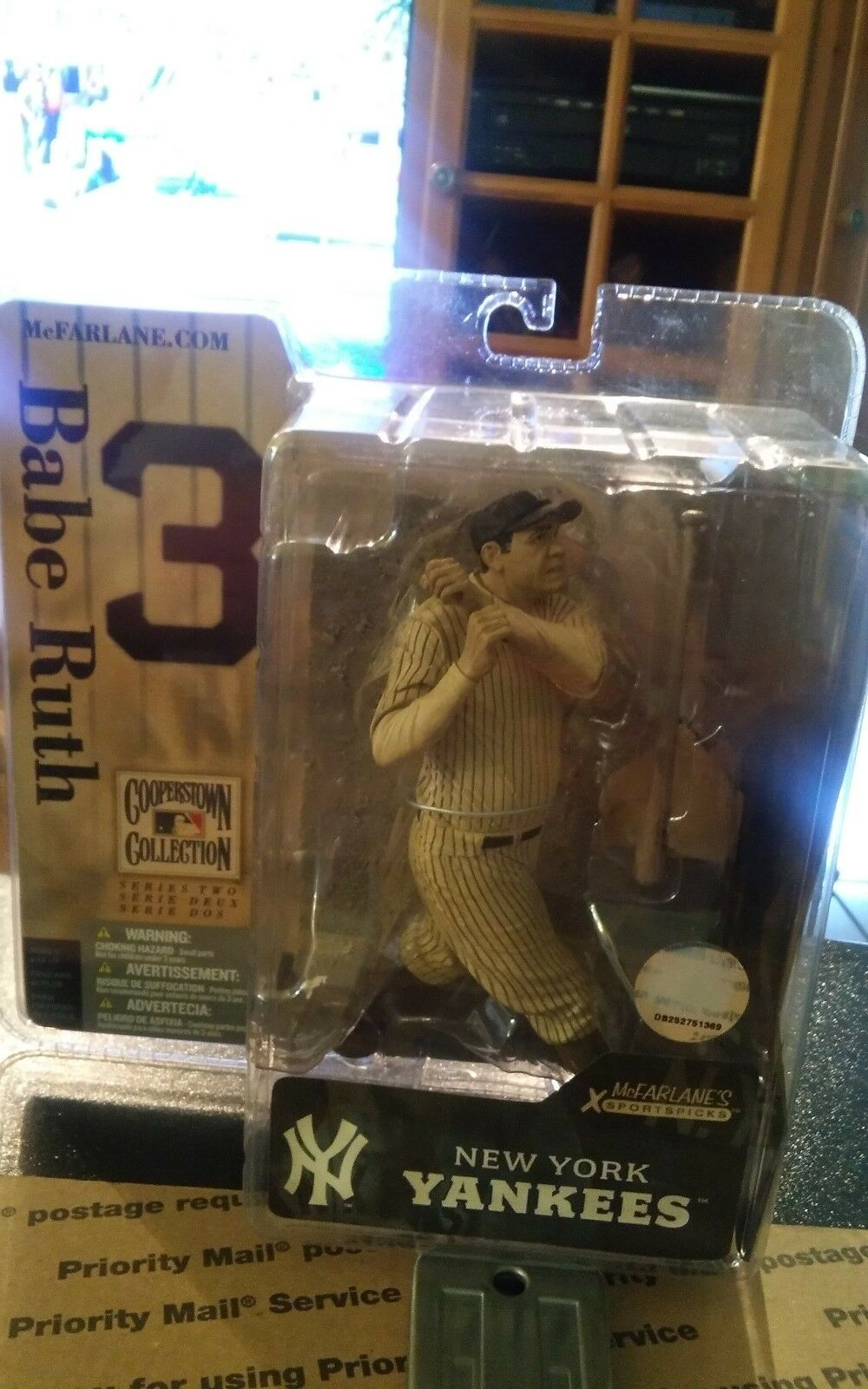 McFarlane Cooperstown Collection Series 2 Babe Ruth Yankees Sephia Chase Variant