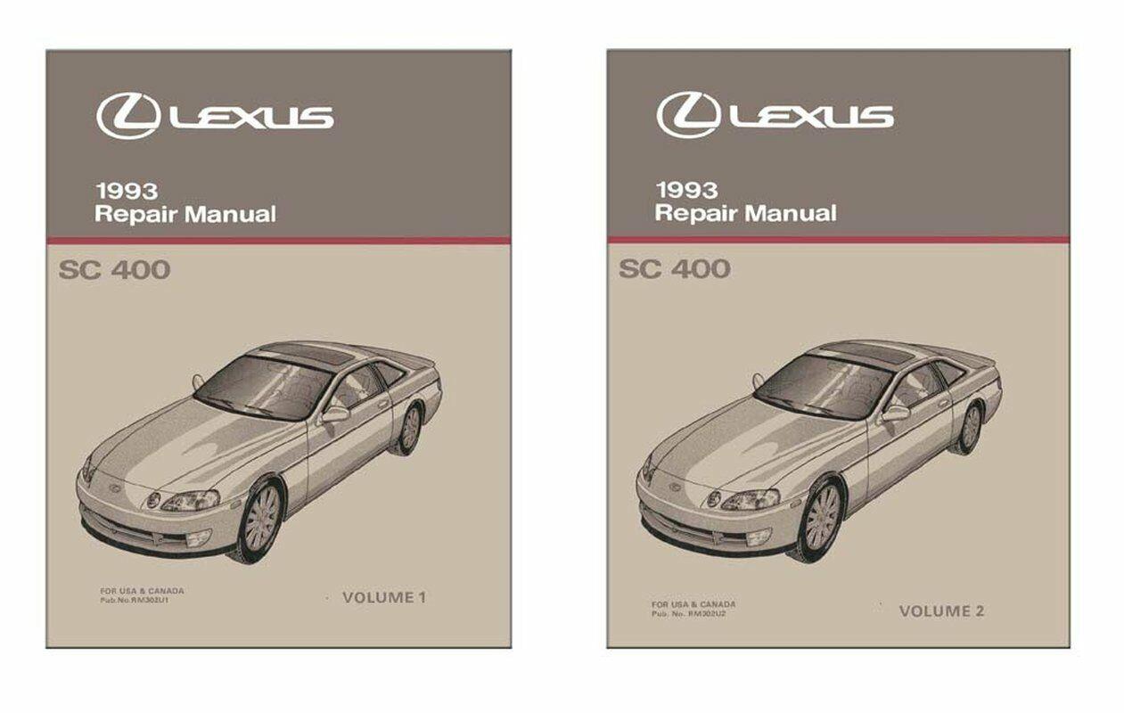 Bishko OEM Repair Maintenance Shop Manual Bound for Lexus Sc 400 1993