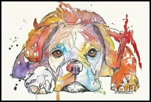 A4-UNFRAMED-ABSTRACT-PRINT-OF-PSYCHODELIC-BOXER-DOG-BY-S-V-HARTWELL