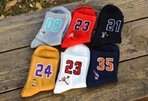 Socks-Number-23-Red-White-Sport-Foot-Basketball-Sock-Pair-Jordan-Casual-Male-New