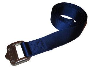 RLX Ralph Lauren Polo Royal Blue Nylon Web Slide Buckle Golf Belt ... b2f7275b2d6