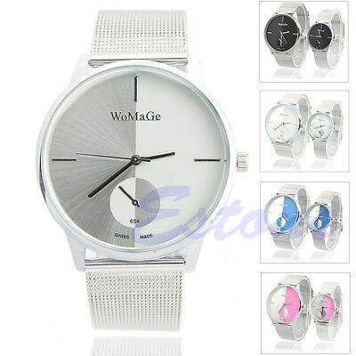 Fashion Classic Men Women Quartz Stainless Steel Lady style Couple Wrist Watch