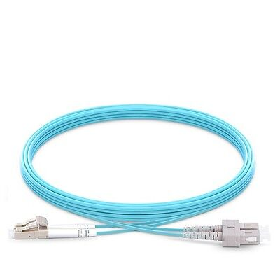 2M LC to SC Duplex 2.0mm 10G OM3 Fiber Optic Patch Cable 6ft