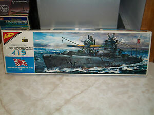 Nichimo 1/200 Scale Japanese I 19 Submarine - Motorized