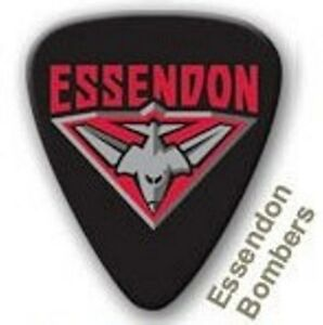 Essendon Bombers Guitar Picks 5 Pack Official AFL Product, FREE POSTAGE